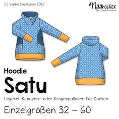 Näähglück Onlineshop - eBook Satu - Hoodie Einelgrößen 32 - 60