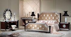 """Фотография двуспальной кровати """"Kristall"""" в стиле Ар-деко в интерьере спальни"""