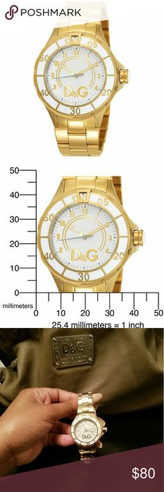 Dolce & Gabbana anchor Gold watch Authentic stainless steel Dolce & Gabbana watch Dolce & Gabbana Accessories Watches