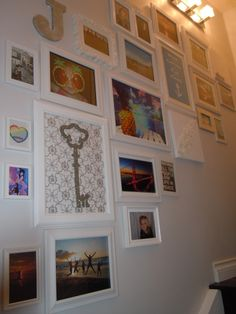 picture wall - as you can see, you can add your favorite paintings, photos and the items you treasure on one wall.  This becomes YOUR style!!!