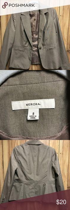 Merona blazer. Taupe. Size 8 Merona blazer. Taupe. Size 8 Merona Jackets & Coats Blazers