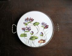 Floral Tray by Rush Creek Vintage