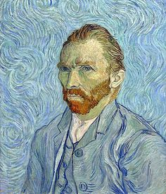 This, the last of Van Gogh's self-portraits and one of the greatest, was painted only months before his death. The background reminds us of the rhythms of The Starry Night, which the portrait resembles also in the dominating bluish tone of the work. In all this turmoil and congested eddying motion, we sense the extraordinary firmness of the painter's hand.