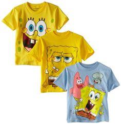 Sponge Bob Squarepants Boys 2-7 Spongebob 4-7 3 Pack Tees, Asst, 4 coupon| gamesinfomation.com