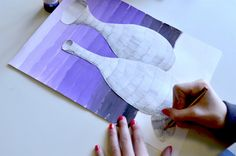 Here we have a mixed media work that involves many skills and subjects. First off all we learn how to paint a tonal gradation with acrylic or tempera painting, in order to create a background for t…