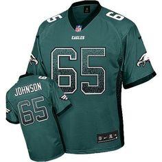 Nike Eagles  65 Lane Johnson Midnight Green Team Color Men s Stitched NFL  Elite Drift Fashion 6c415f2f7