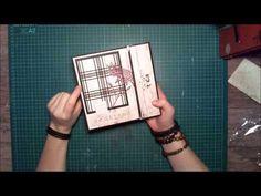TUTO : mini album scrapbooking papier action facile # 6 - YouTube