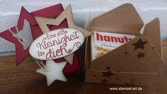 weihnachtliche Hanuta Verpackung nach StempelART, (5)