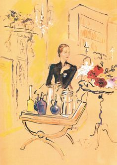 Cecil Beaton's drawing of the Duchess of Windsor