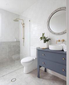 Shop Instagram - Tile Cloud Marble Mosaic, Mosaic Tiles, Bathroom Inspiration, Bathroom Ideas, Subway Tile, Ocean Beach, Bathroom Interior, Newport, Mirror