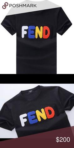 Fendi shirt White blue and black fendi shirt Fendi Shirts Tees - Short  Sleeve Letters 9ea2a7e13ecb3
