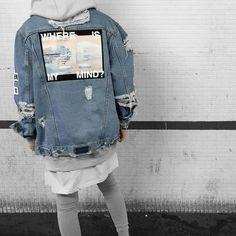 denim jacket customised