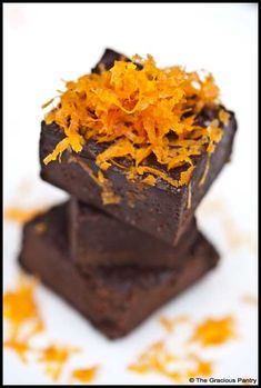 Clean Eating Orange Fudge from www.TheGraciousPantry.com
