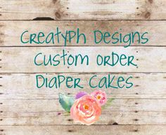 Custom order you own Diaper Cake!! 2 tier. 3 tier. More tiers! #CreatyphDesigns #Etsy #Facebook  https://www.etsy.com/listing/227995545/custom-2-tier-diaper-cake