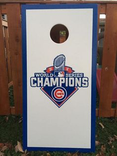 CUSTOM VINYL Cornhole Boards DECALS Chicago Cubs Bag Toss Game - Custom vinyl decals chicago