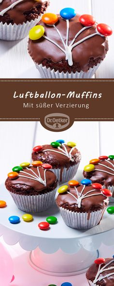Luftballon-Muffins: Schoko-Muffins mit süßer Verzierung Source by faminino Related posts: Muffins with chocolate pieces Fudgy Double Chocolate Chip Muffins Healthy Banana Chocolate Chip Oatmeal Muffins Vanillepudding – Muffins