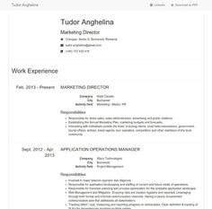 Free HTML5, CSS3 & Twitter Bootstrap 3 Minimalist Design Resume Field Marketing, Design Resume, Web Design Tutorials, Public Relations, Minimalist Design, Advertising, Template, Activities, How To Plan