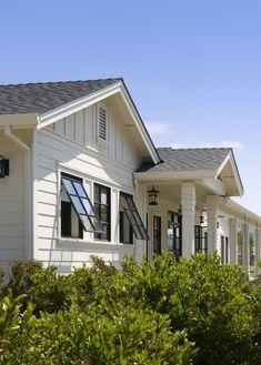 Farmhouse Windows Exterior, Modern Ranch Farmhouse, Modern Farmhouse Exterior, Single Story Modern Farmhouse, Farmhouse Exteriors, Black Exterior Windows, ...