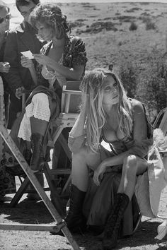 French actress Brigitte Bardot on the set of 'Les Petroleuses' a.k.a. 'The Legend of Frenchie King', directed by Christian-Jaque in Spain, 1971.