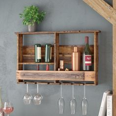 Crafted from solid wood this American-made wall rack stores your stemware and wine & Buy Wood and Metal Wall Mountable Plate Rack at Argos.co.uk - Your ...