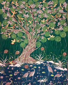 Originally from India, Rinal Parikh paints using traditional methods that share folklore and memories. Madhubani Art, Madhubani Painting, Indian Folk Art, Artist Profile, Indian Paintings, Silk Painting, Tribal Art, Incredible India, City Photo