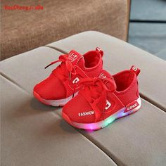 low priced 8c164 dc816 New Autumn Children Shoes LED Glowing Sneakers Kids Fashion Air Mesh Baby  Sports Shoes For Toddler Shoes With Light Boys Girls