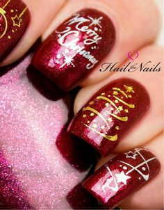 Transfers Merry Christmas Tree - $2.72 #Christmasnails #Holidaynails #MerryChristmas #rednails #afflink #ad #mml