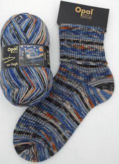 "Opal Vincent Van Gogh Sock Yarn ""The Starry Night"""