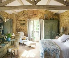 Home design and interior decorating is what VERANDA magazine is all about. French Country Bedrooms, French Country Cottage, French Country Style, Country Living, Country Kitchen, French Countryside, Country French Magazine, Country Cottage Bedroom, English Cottage Style