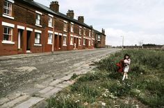 Row houses, Manchester, England, United Kingdom, 1977, photograph by John Bulmer.