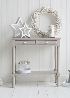 Smalller Version For Hall Oxford Grey Small Console Table   Storage Living,  Hall And Bedroom Furniture  Large