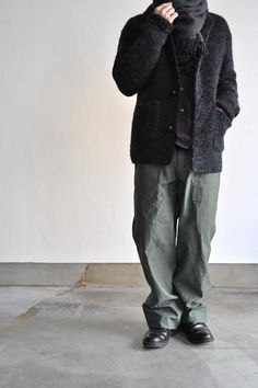COMME des GARCONS HOMME/コムデギャルソン オム 紡毛ガーター手編み