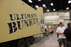 The Ultimate Bunker rests in a corner of the Exhibit Hall at the Utah Valley Convention Center during the Utah Valley Gun Show in July.