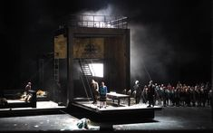 Boris Gordunov at the Bayerische Staatsoper. Production by Calixto Bieito. Sets by Rebecca Ringst.