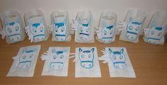 Svatomartinské lampičky - papírový sáček, nalepená  prostříhaná hlava koně, fixy.: Crafts To Do, Crafts For Kids, Paper Crafts, Martini, Kentucky, Advent, Winter, How To Make, Decorations