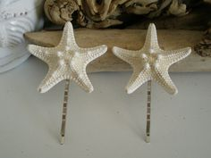Hey, I found this really awesome Etsy listing at https://www.etsy.com/listing/179340245/set-of-knobby-starfish-bobby-pins