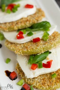 Oven Fried Green Tomato Caprese Recipe with Balsamic Reduction recipe flavor, texture, color, and nutrients. This is a must make salad recipe.