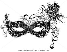 Vector carnival mask. Masks for a masquerade. Vector party mask. by Marina99, via ShutterStock