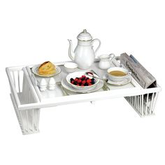 Wood & Glass Breakfast / Bed Tray | Painted, Wooden & Decoupage Trays | Home Decor Accessories | Home Decor | ScullyandScully.com