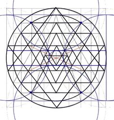 drawing the sri yantra