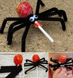 How to DIY Easy Spider Pop for Halloween Kids Treat | www.FabArtDIY.com LIKE Us on Facebook ==> https://www.facebook.com/FabArtDIY
