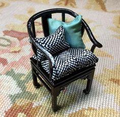 Bespaq Chair Seat Chaise With Pillows 1:12 Dollhouse Miniature