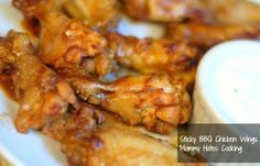 Sticky BBQ Chicken Wings {Great for Tailgate Parties}