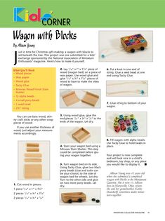 tutorial: miniature wagon with blocks Miniature Furniture, Dollhouse Furniture, Dollhouse Toys, Picasa Web Albums, Toys Shop, Classic Toys, Doll Toys, Christmas Gifts, Make It Yourself