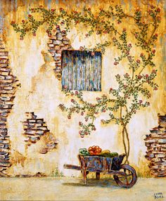 Paintings of roses - Original French Country Paintings