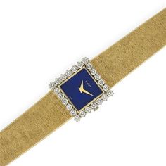 Gold, Diamond and Lapis Wristwatch, Piaget for Sale at Auction on Tue, - - Important Estate Jewelry High Jewelry, Bling Jewelry, Jewelery, Gold Watches Women, Watches For Men, Wrist Watches, Art Deco Watch, Antique Watches, Telling Time