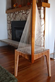 Midcentury Modern Unique Wooden S Accent Chair By Golden Ratio