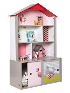 Zauberhaftes Puppenhaus-Regal für Mädchen von Vertbaudet