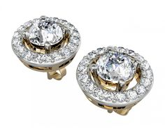 Alluring Diamond Solitaire Cluster earring#prom