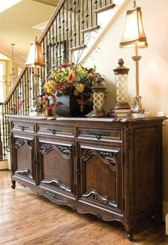 La Rochelle Sideboard | Beautiful in this large entryway, but would also work well in the dining room or living room